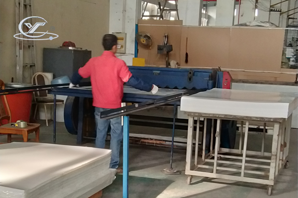 sliver cans are processing in our workshop 22